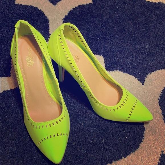 Charlotte Russe Shoes - Charlotte Russe florescent yellow pumps!